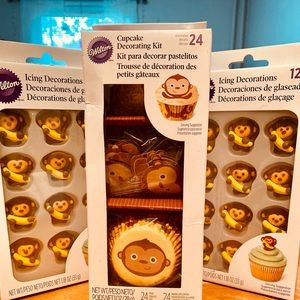 Monkey Cupcake Decoration Kit